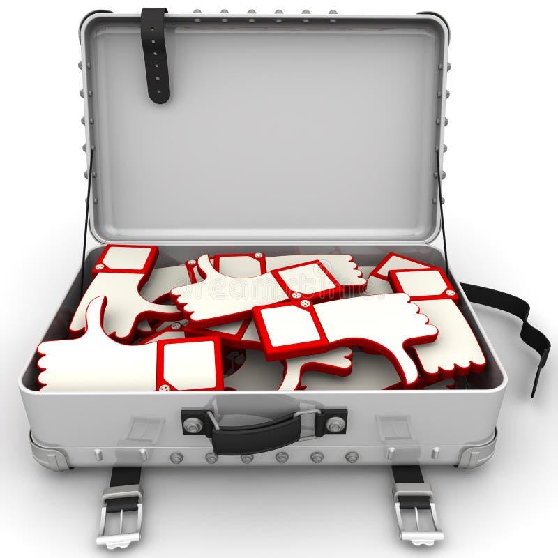 Koffer mit Berichten vektor abbildung