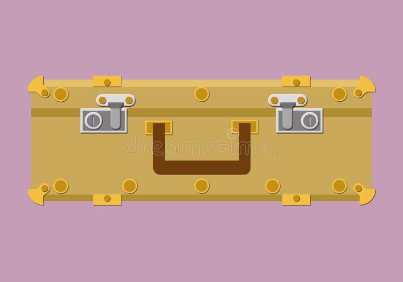 Koffer op ge?soleerde achtergrond royalty-vrije stock afbeeldingen