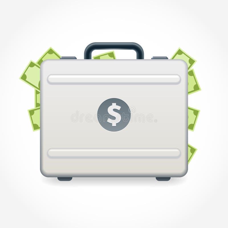 Koffer voll Geld stock abbildung
