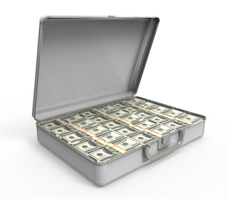 Kofferhoogtepunt van Geld royalty-vrije illustratie