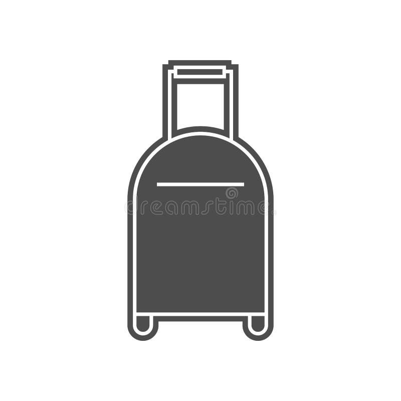 Kofferikone Element von minimalistic f?r bewegliches Konzept und Netz Appsikone Glyph, flache Ikone f?r Websiteentwurf und Entwic stock abbildung