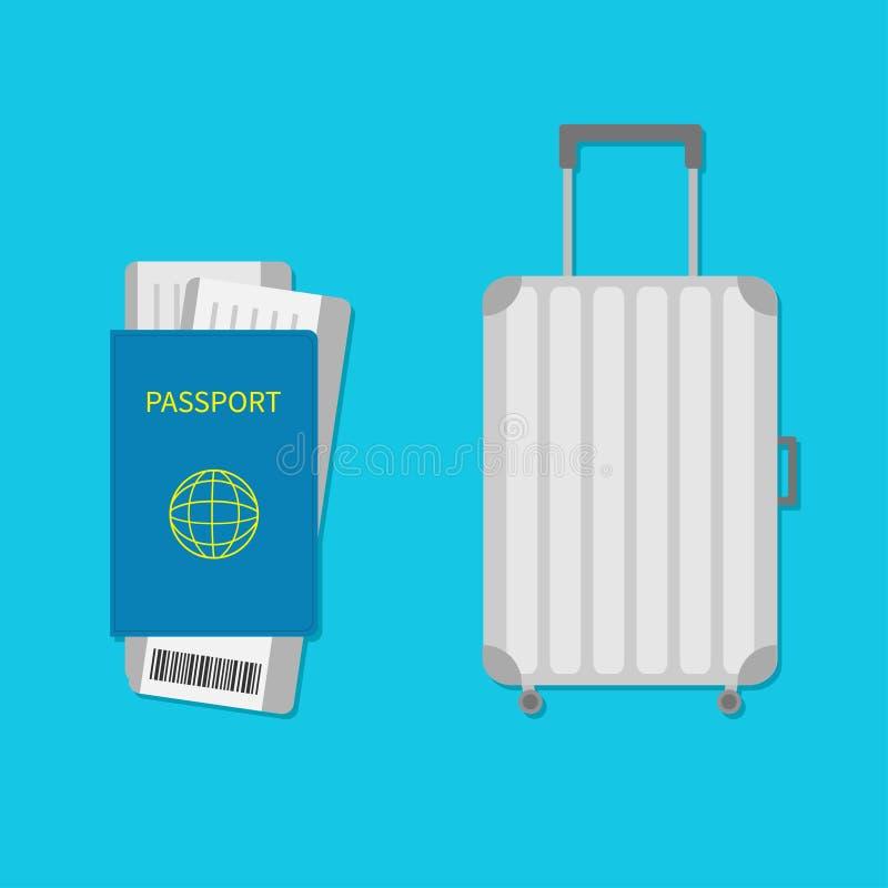 Kofferikone Reisegepäck Gepäckhandtasche stock abbildung