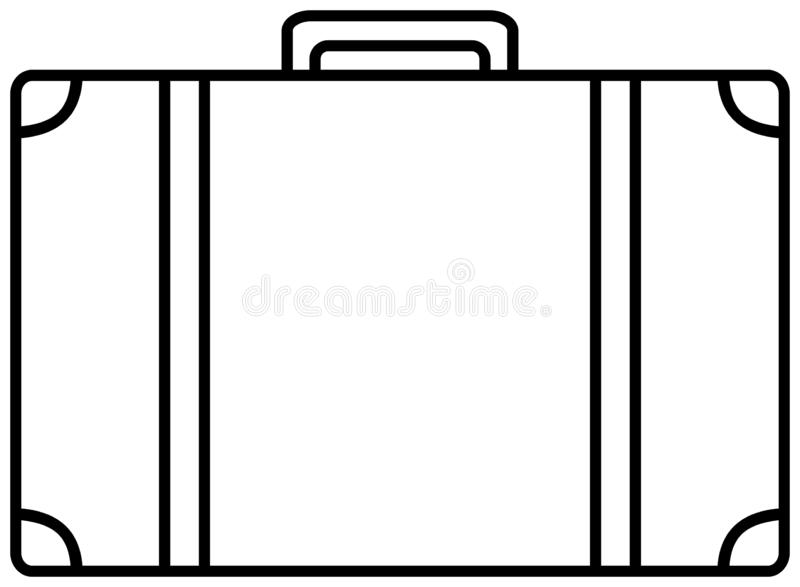 Kofferikone Vektorentwurfsillustration vektor abbildung
