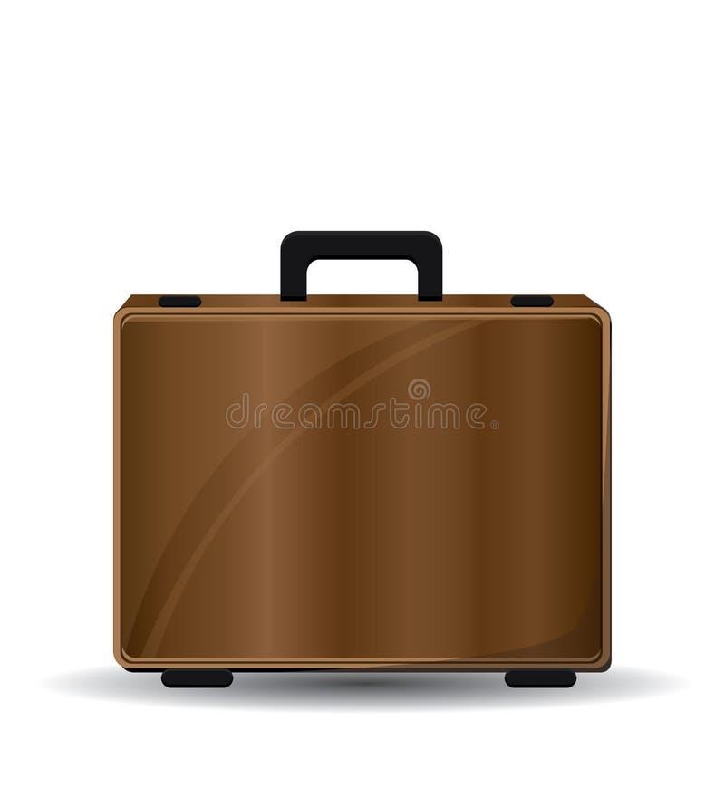 Kofferillustratie op witte achtergrond stock illustratie