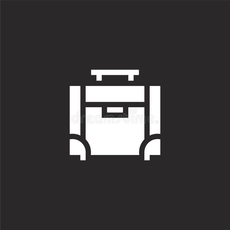 Kofferpictogram Gevuld kofferpictogram voor websiteontwerp en mobiel, app ontwikkeling kofferpictogram van gevulde de zomerinzame vector illustratie