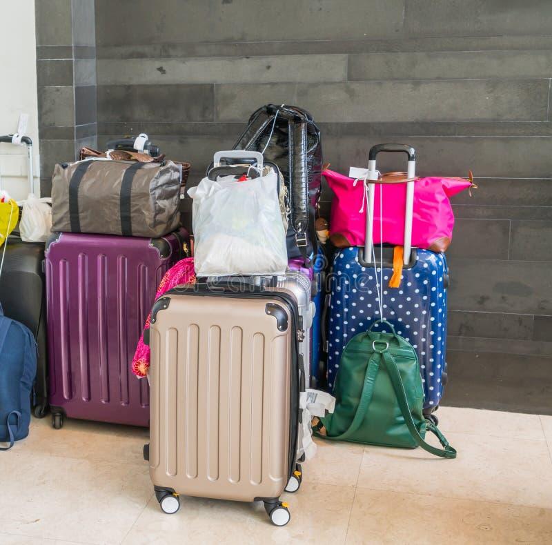 Koffers en reiszak royalty-vrije stock afbeeldingen