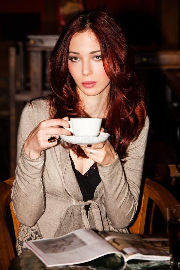 In koffie royalty-vrije stock afbeeldingen