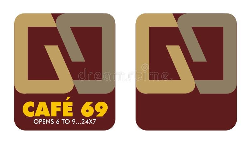 Koffie 6 tot 9 van het embleem royalty-vrije illustratie