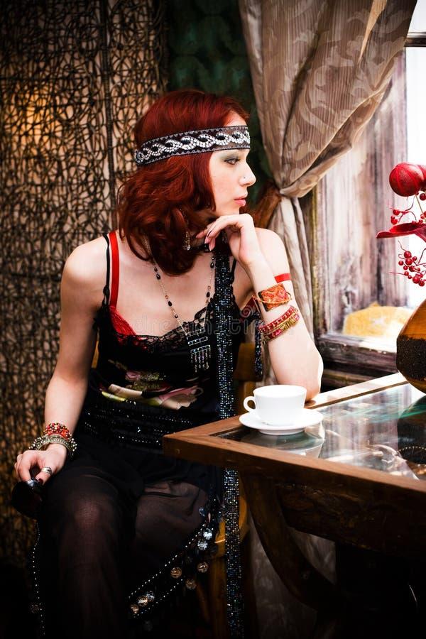 In koffie royalty-vrije stock foto's
