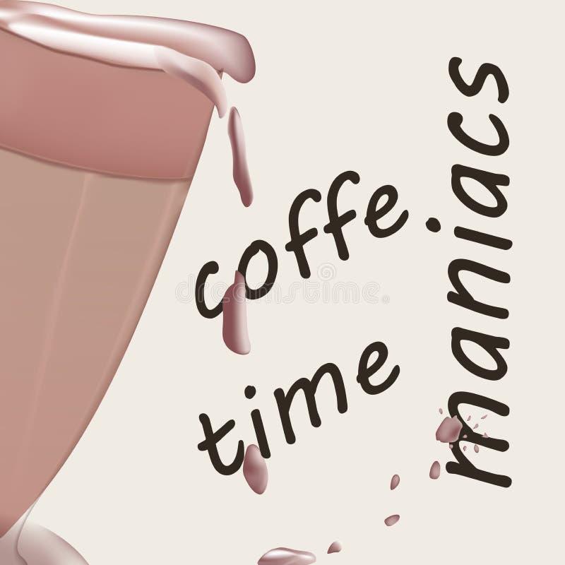 Koffie achtergrond vectorontwerpillustratie Voor banners royalty-vrije illustratie