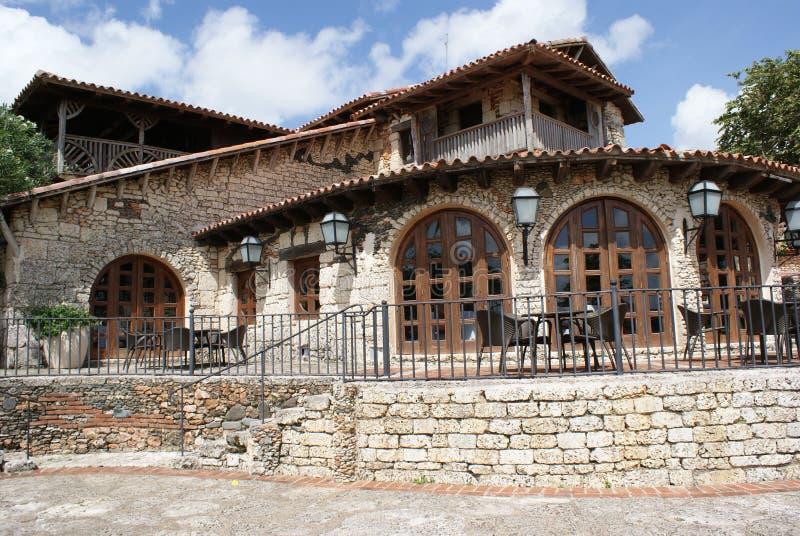 Koffie in Altos DE Chavon royalty-vrije stock afbeeldingen
