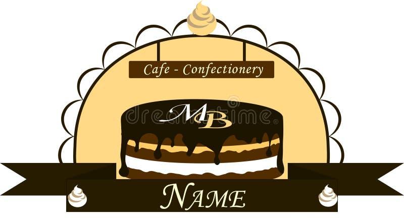 Koffie - banketbakkerij met cake royalty-vrije stock afbeelding