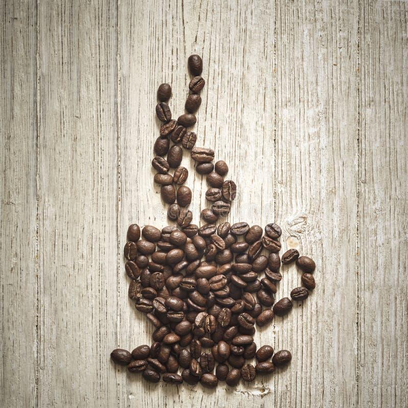 Koffie Bean Cup royalty-vrije stock afbeelding