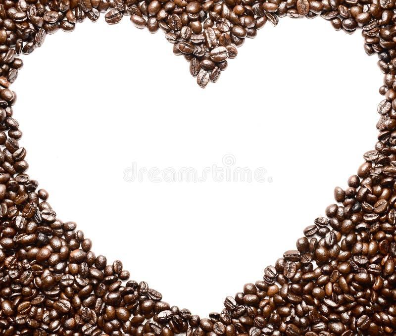 Koffie Bean Sort voor exemplaarruimte royalty-vrije stock fotografie