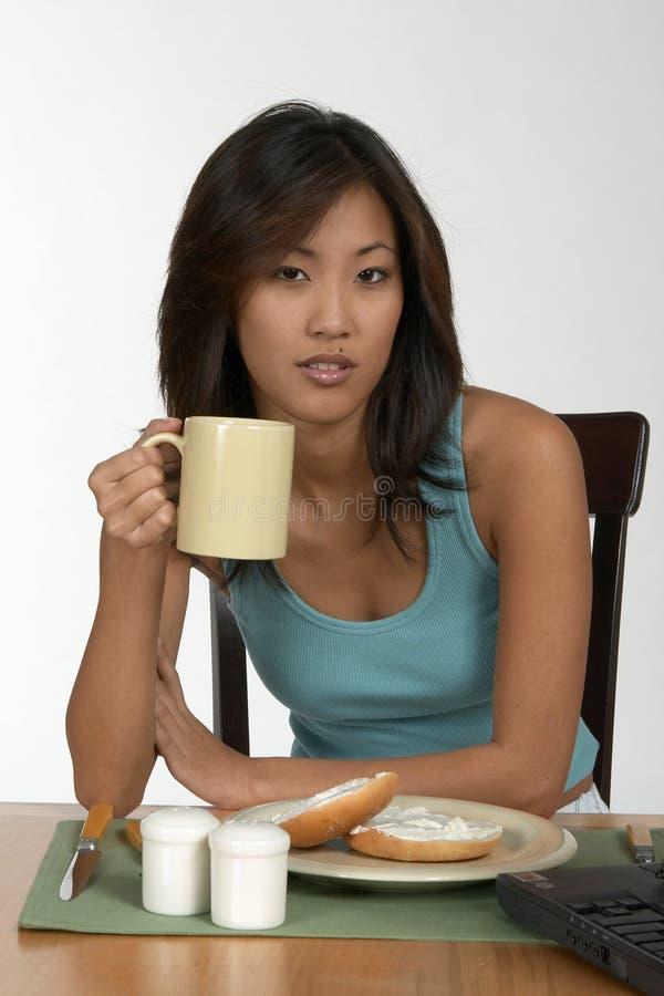 Koffie bij ontbijt stock fotografie