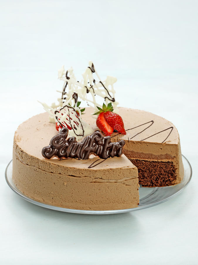 KOFFIE & CHOCO-CAKE royalty-vrije stock afbeeldingen