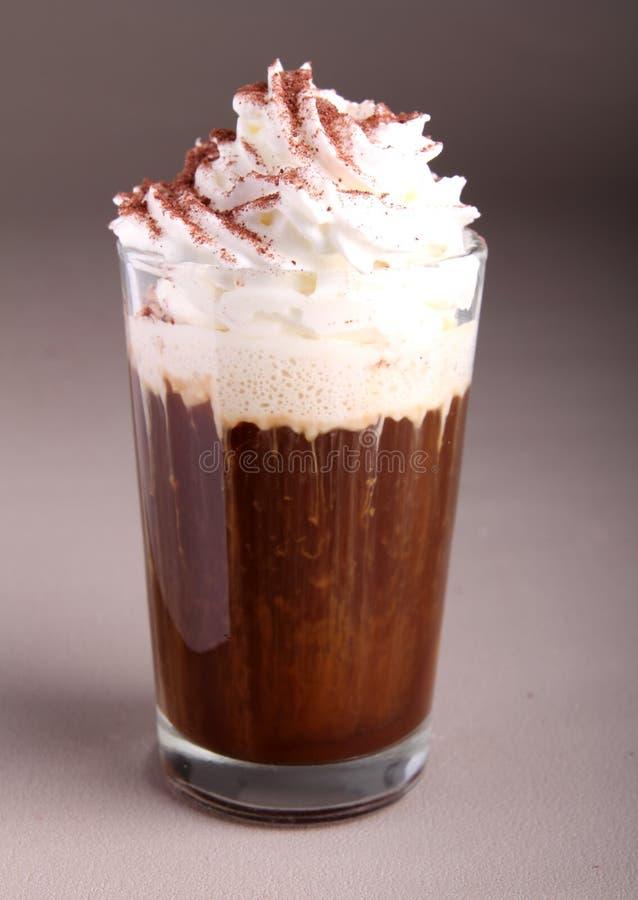 Koffie of chocolade met room royalty-vrije stock foto