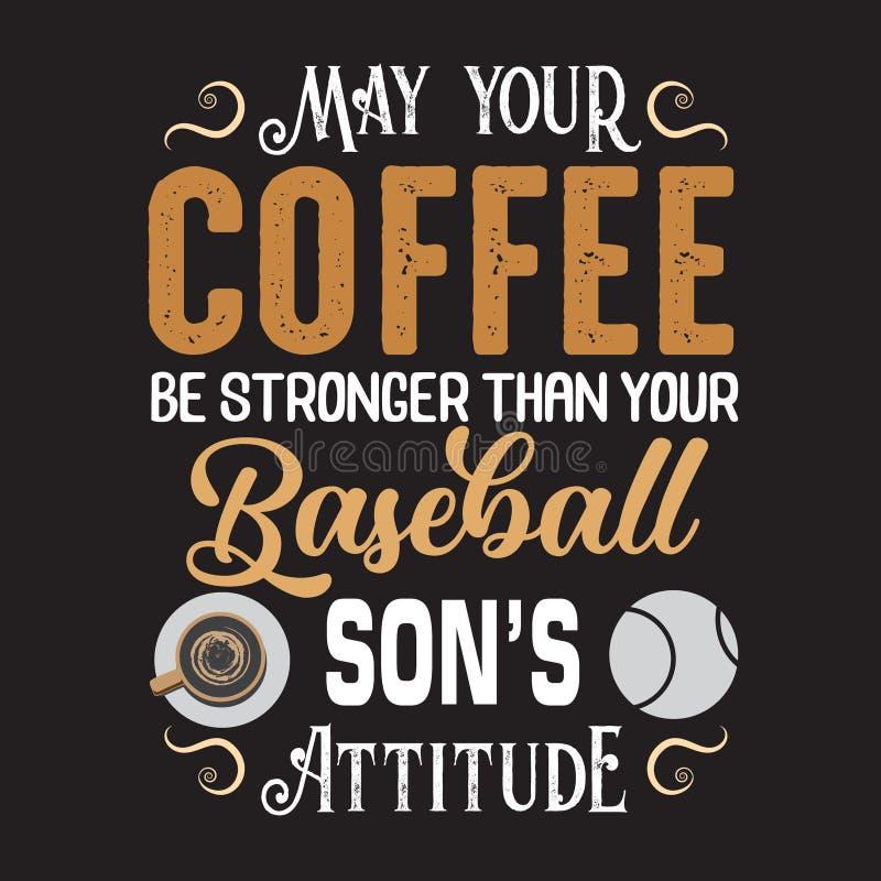 Koffie Citaat en Zeggen goed voor drukontwerp vector illustratie