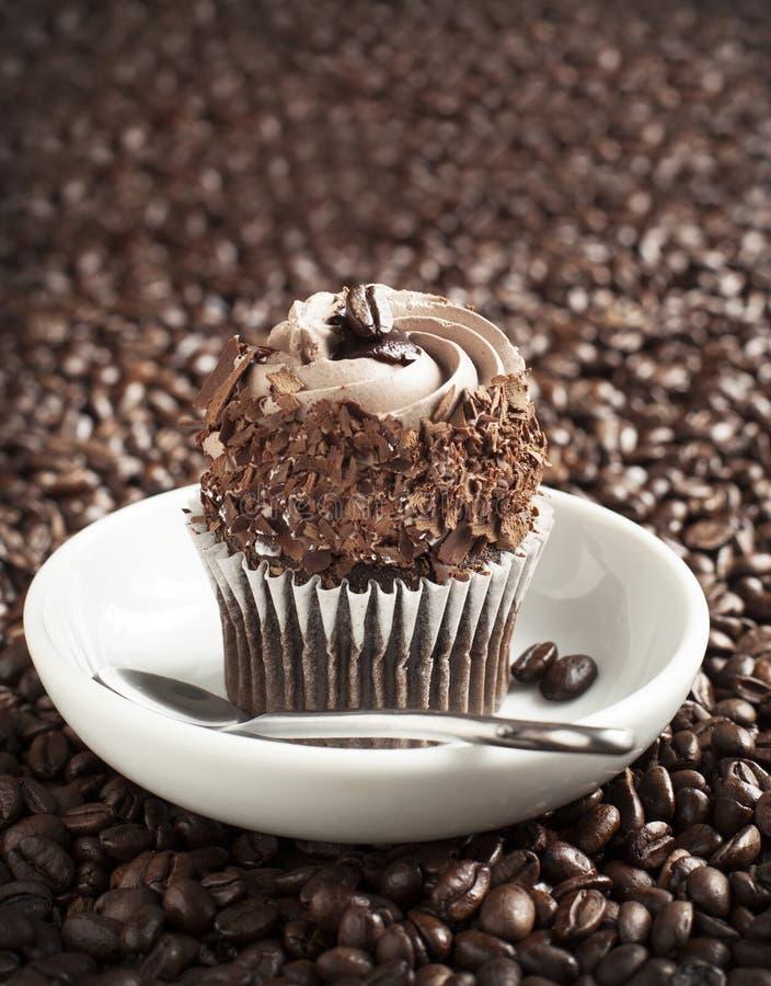 Koffie cupcake royalty-vrije stock fotografie