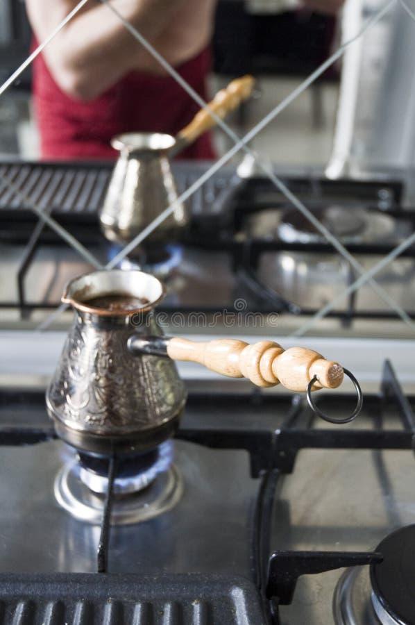 Koffie in de Turk royalty-vrije stock afbeelding