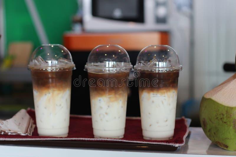 Koffie in de verse drank van Thailand stock foto