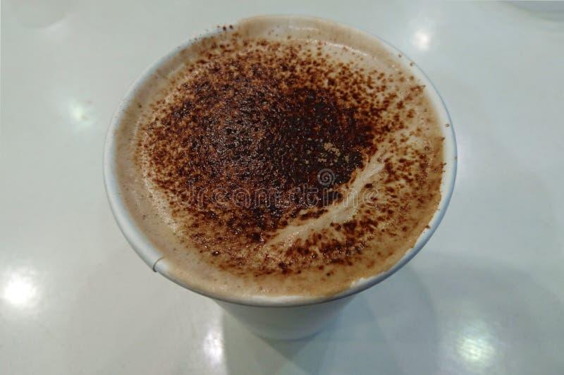 Koffie, eenvoudig patroon op bovenkant royalty-vrije stock fotografie