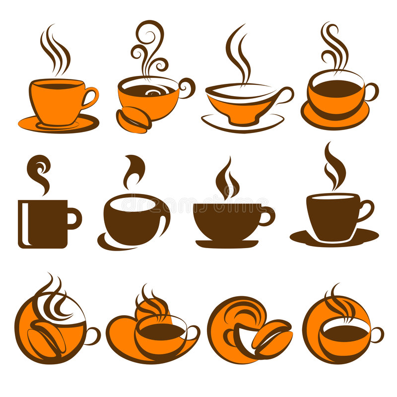 Koffie. Elementen voor ontwerp. royalty-vrije illustratie
