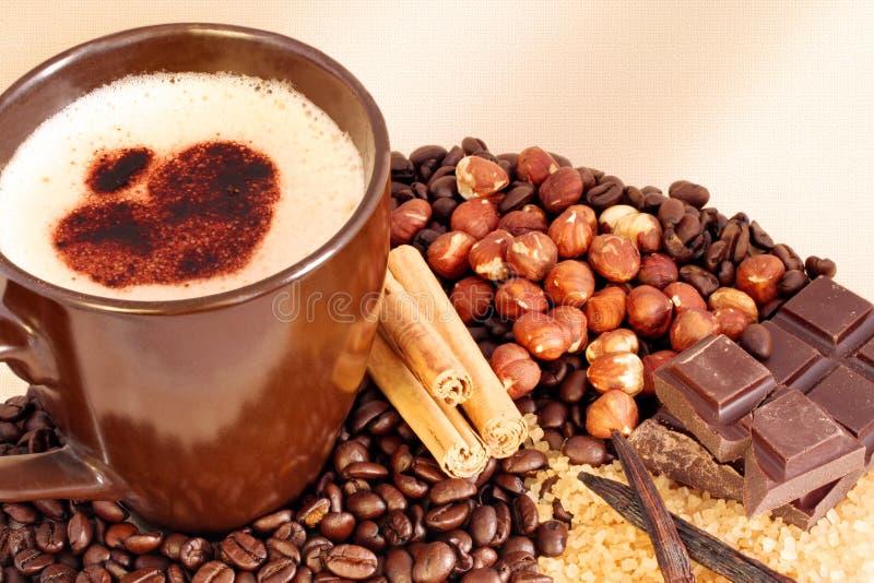 Koffie en Aroma's royalty-vrije stock foto's