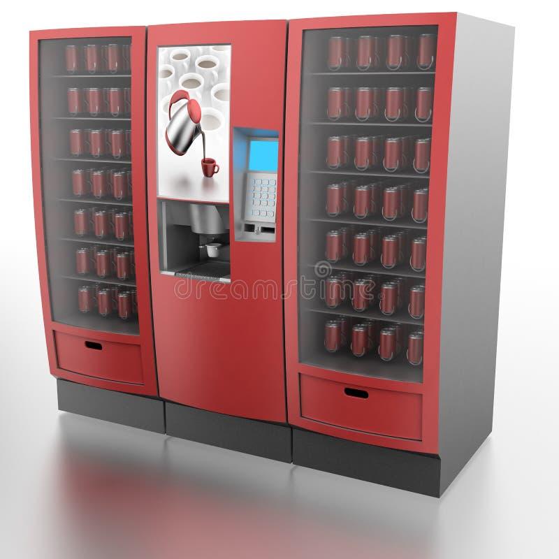 Koffie en automaat royalty-vrije illustratie