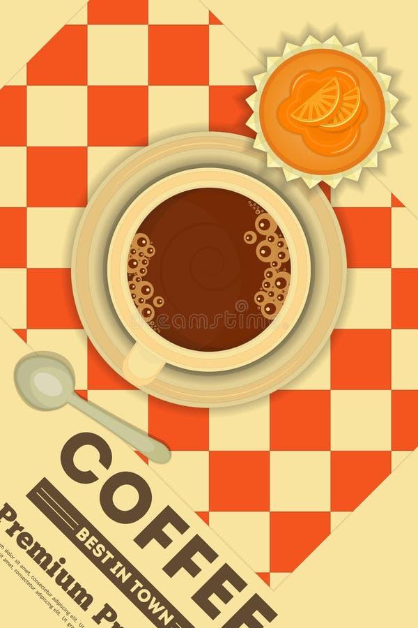 Koffie en cupcakes vector illustratie