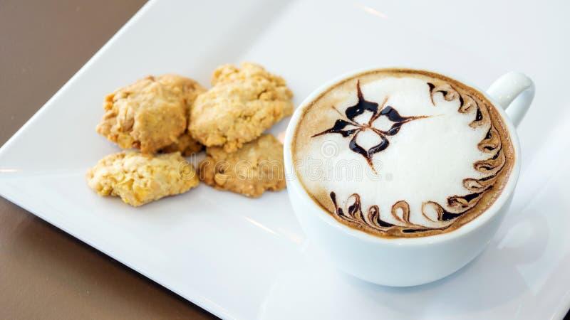 Koffie en koekje royalty-vrije stock afbeelding