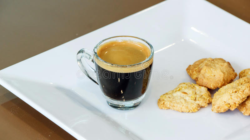 Koffie en koekje royalty-vrije stock foto