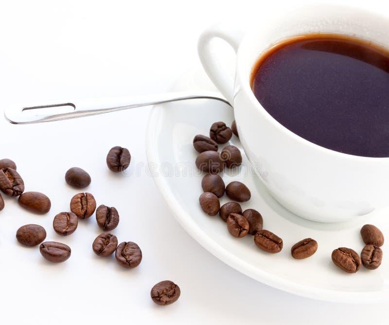 Koffie en koffiebonen royalty-vrije stock foto's