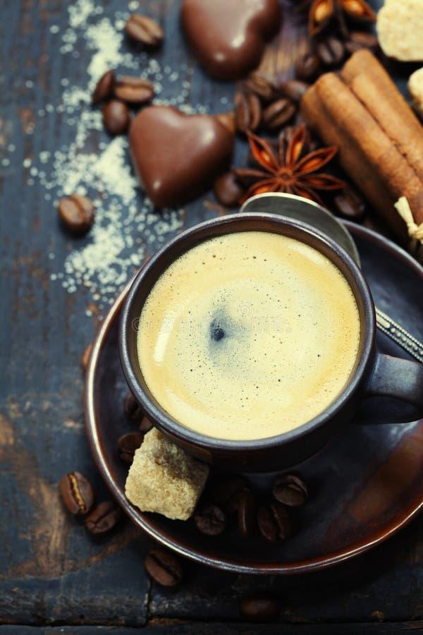 Koffie en kruiden royalty-vrije stock foto