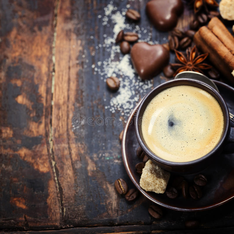 Koffie en Kruiden royalty-vrije stock afbeelding