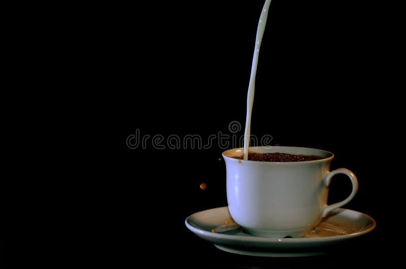 Koffie en melk stock fotografie