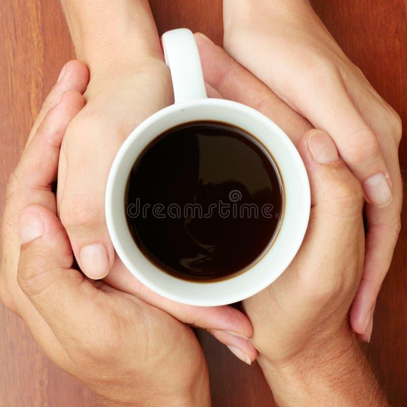 Koffie en Romaans royalty-vrije stock afbeelding