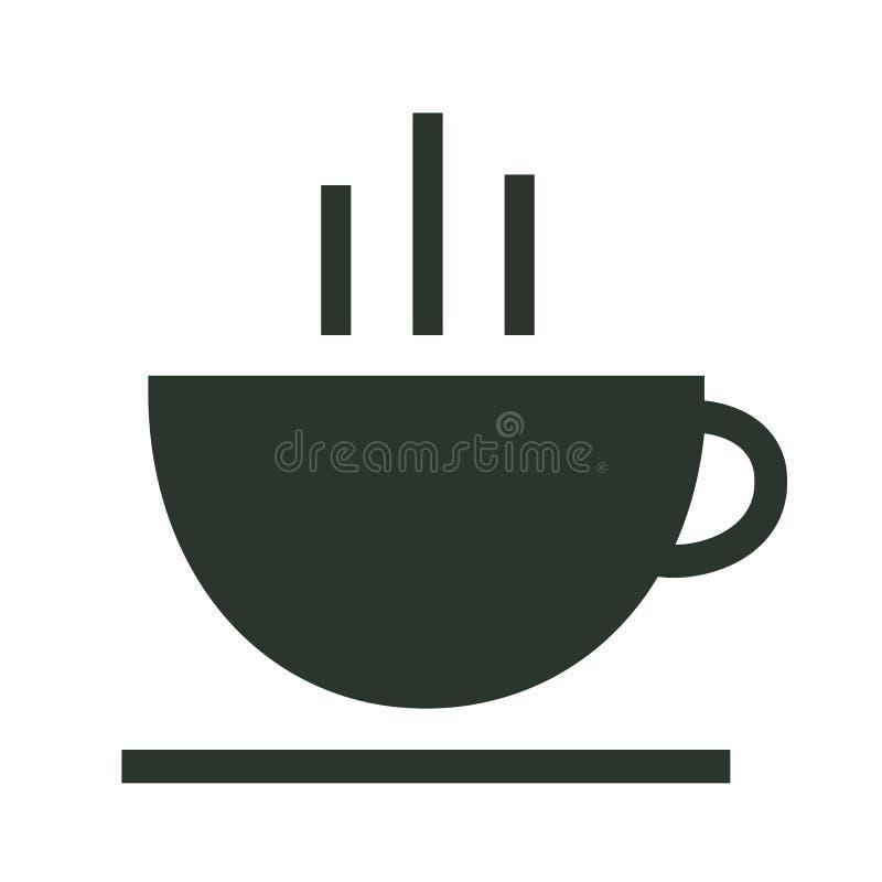 Koffie en theekop logotype stock illustratie