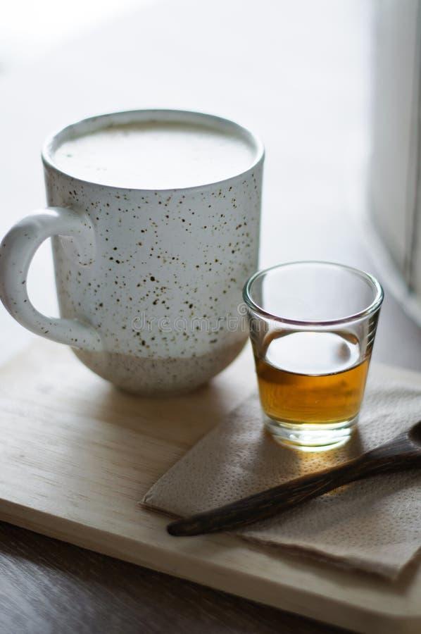 Koffie en theestel royalty-vrije stock foto