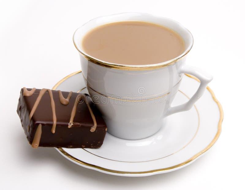 Koffie en zoet gebakje royalty-vrije stock afbeelding
