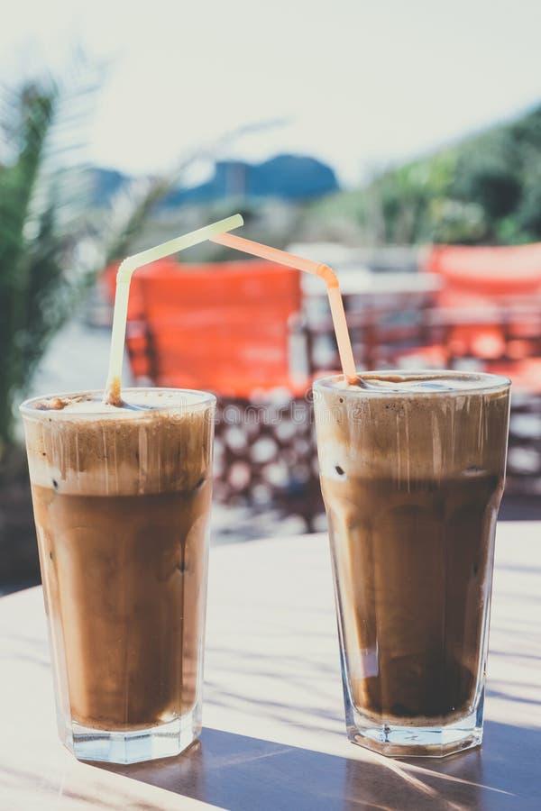 Koffie Frappe stock foto's