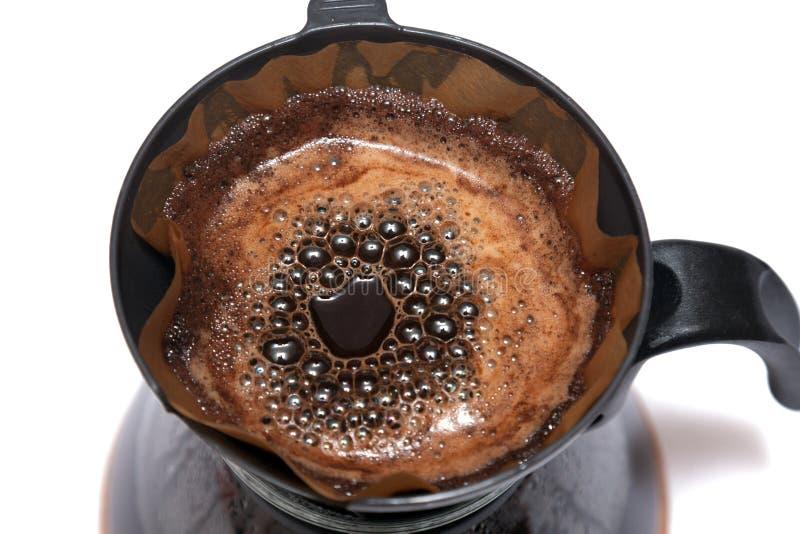 Koffie gefiltreerd beeing royalty-vrije stock afbeelding