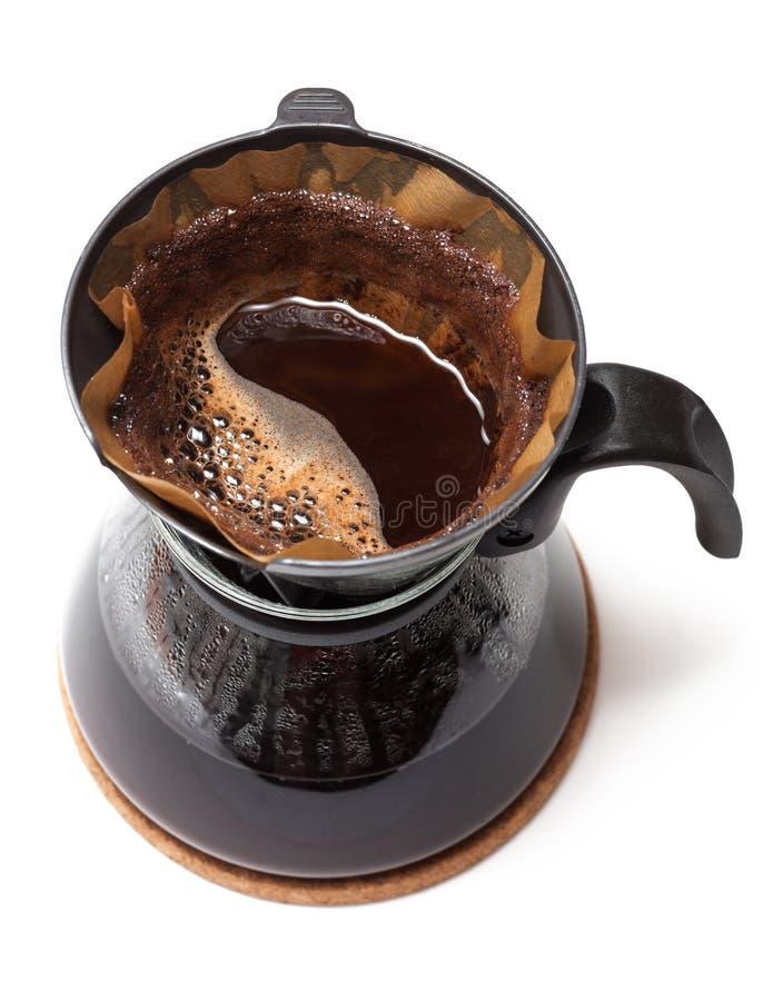 Koffie gefiltreerd beeing stock afbeelding