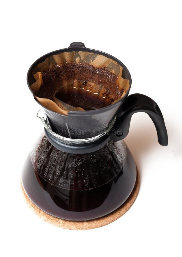 Koffie gefiltreerd beeing royalty-vrije stock fotografie