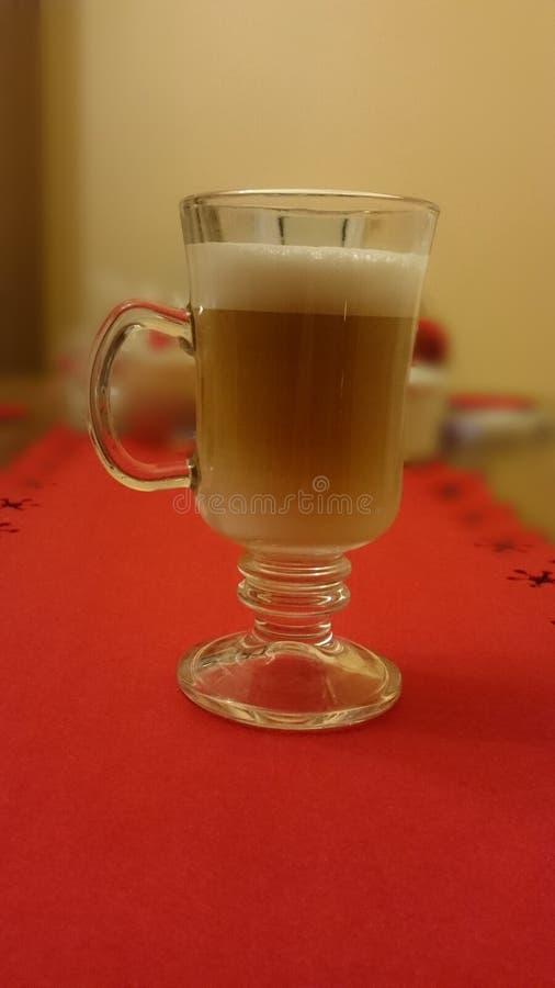 Koffie in glaskop royalty-vrije stock foto's