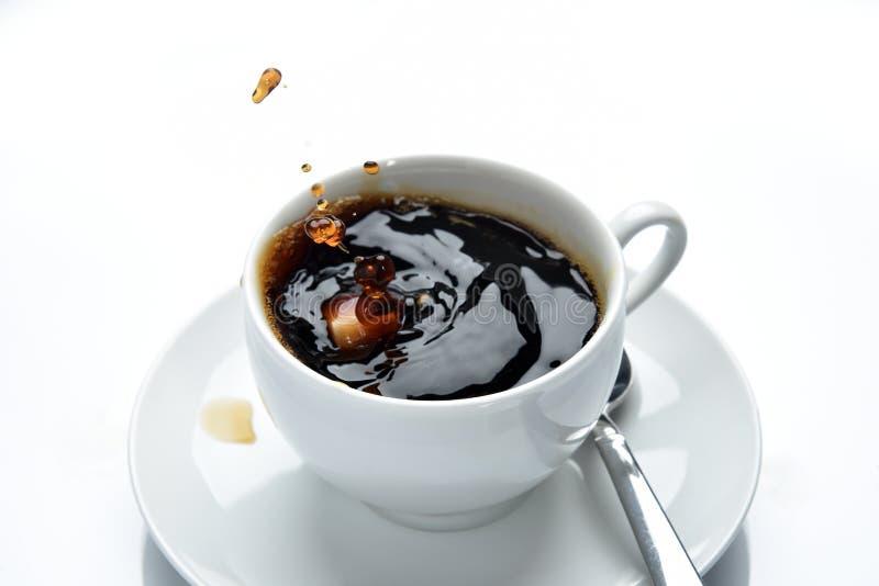 Koffie het bespatten royalty-vrije stock foto's