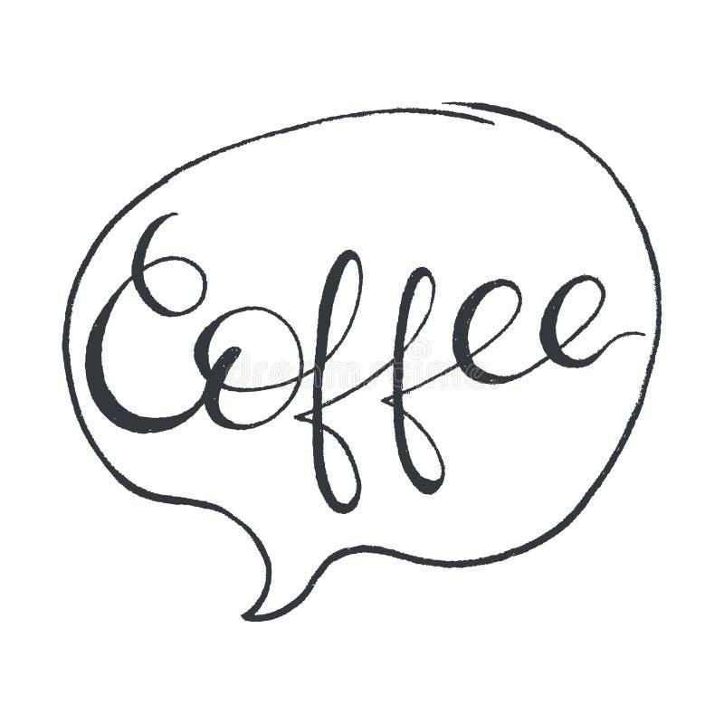 Koffie Het gestileerde Van letters voorzien royalty-vrije illustratie