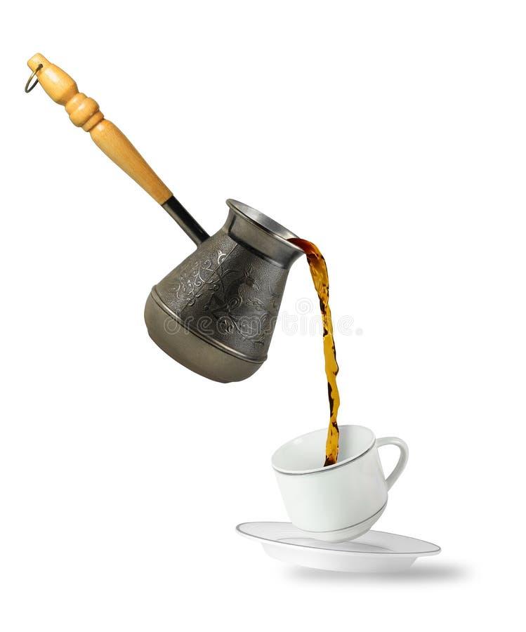 Koffie het vallen stock fotografie