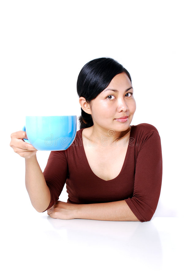 Koffie iedereen? stock afbeelding