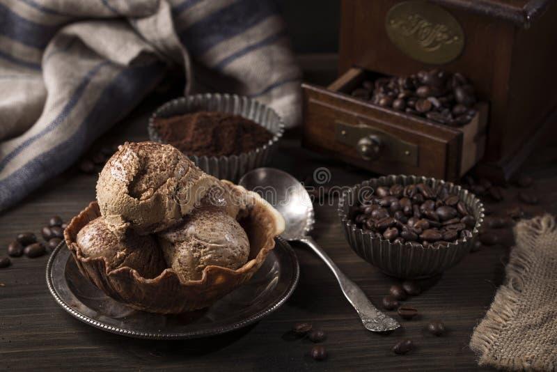 Koffie-ijs royalty-vrije stock foto